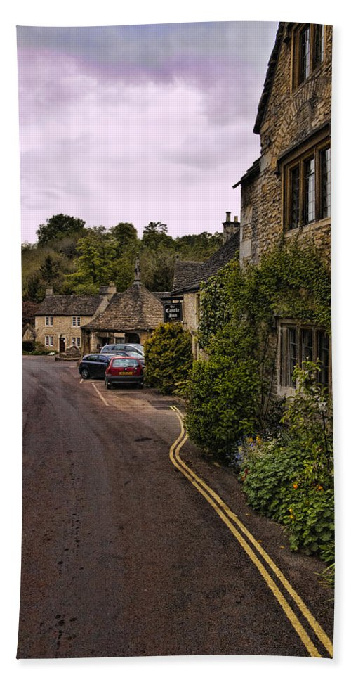 Castle Combe Bath Sheet featuring the photograph Castle Combe by Jon Berghoff