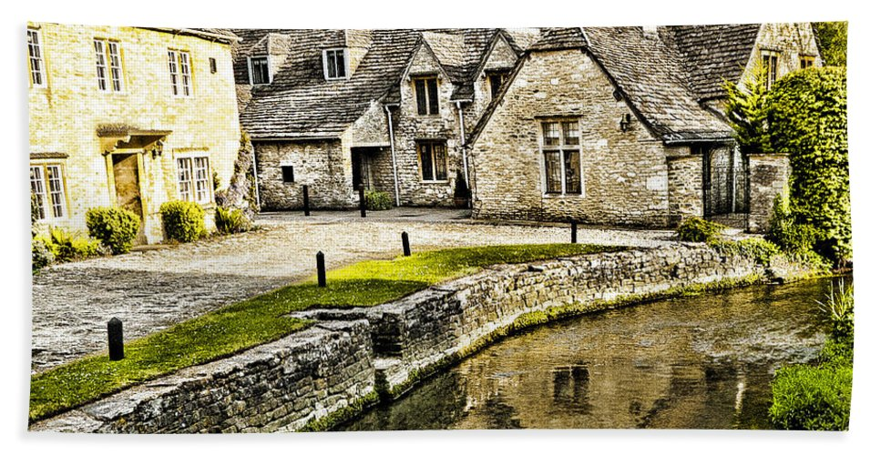 Castle Combe Bath Sheet featuring the photograph Castle Combe Riverside by Jon Berghoff
