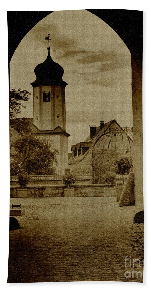Castle Bath Sheet featuring the photograph Castle Gate by Heiko Koehrer-Wagner