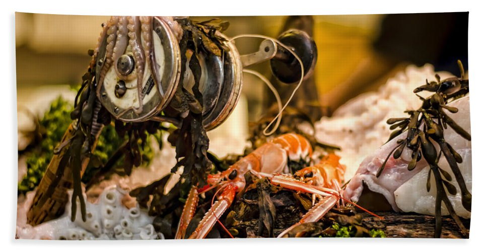 Norway Lobster Hand Towel featuring the photograph Catch Of The Day by Heather Applegate