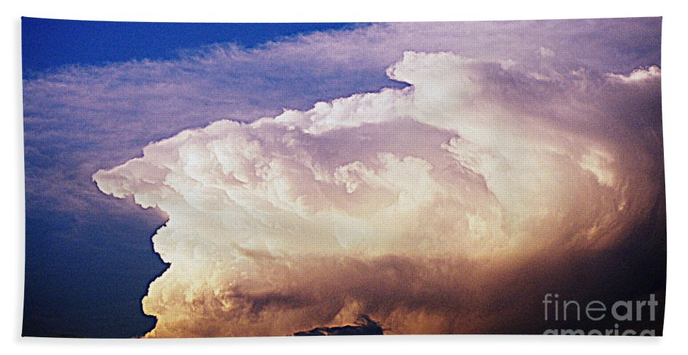 Clouds Bath Sheet featuring the photograph Catch The Wave by Paul Wilford