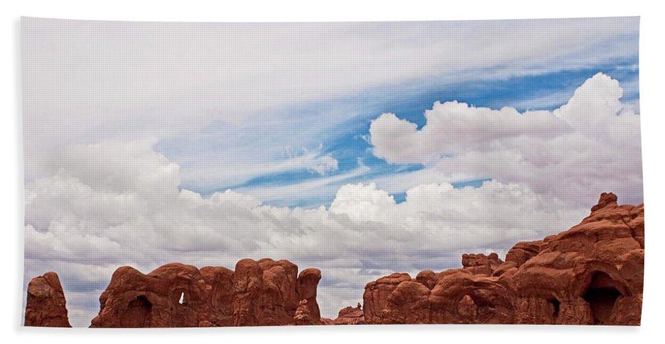 Desert Bath Sheet featuring the photograph Cathedral by Karen Ulvestad