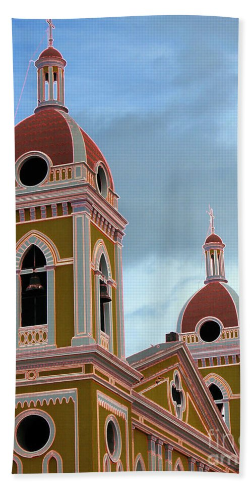 Church Hand Towel featuring the photograph Cathedral On The Square 2 by Lydia Holly