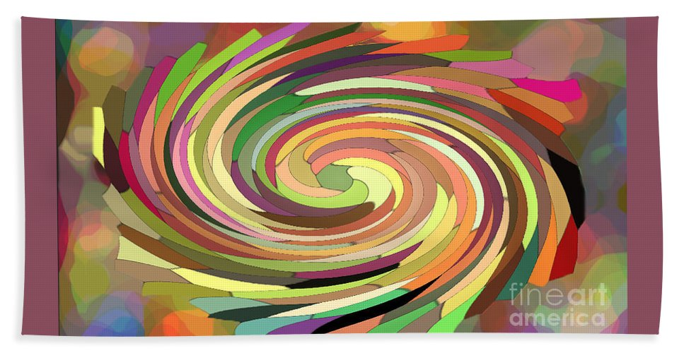 Digital Bath Sheet featuring the photograph Cat's Tail In Motion. Stained Glass Effect. by Ausra Huntington nee Paulauskaite