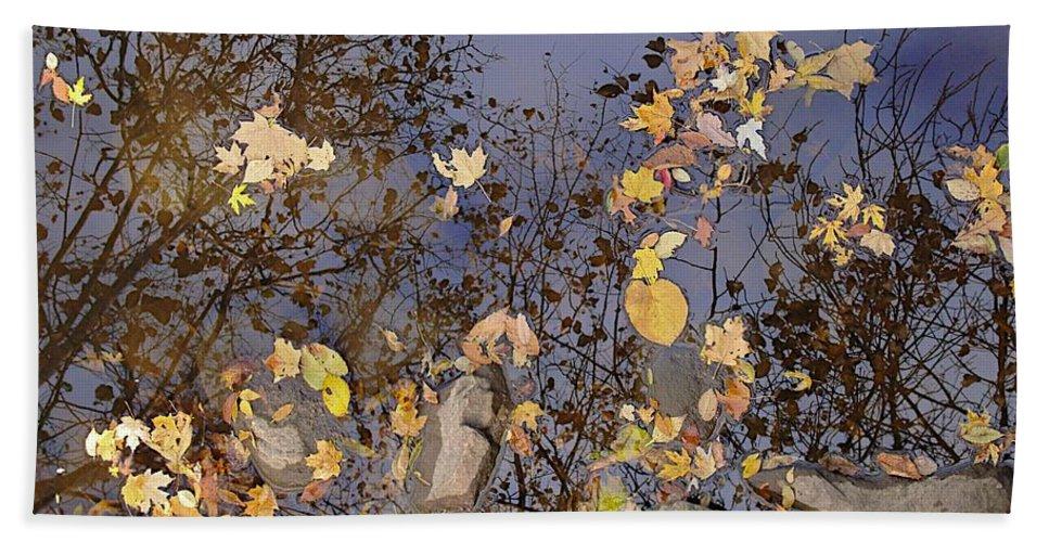 Fall Bath Sheet featuring the photograph Cedar Rock by Joseph Yarbrough