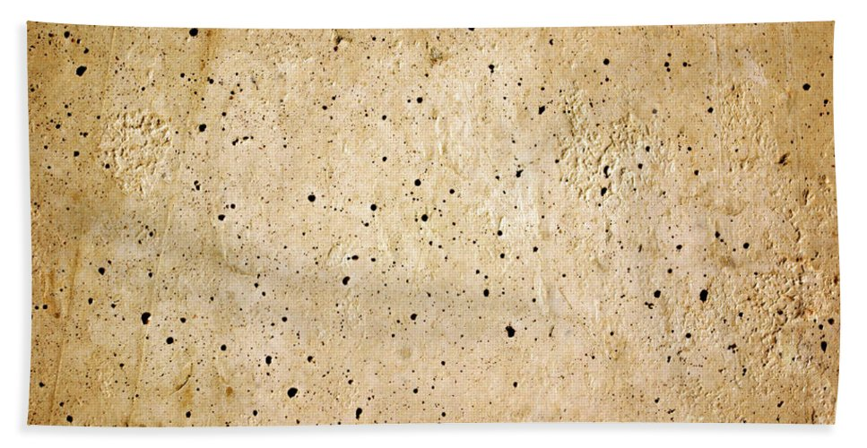 Abstract Bath Sheet featuring the photograph Cement Wall by Carlos Caetano