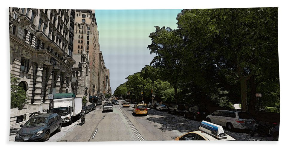 Nyc Bath Sheet featuring the photograph Central Park West by Ericamaxine Price