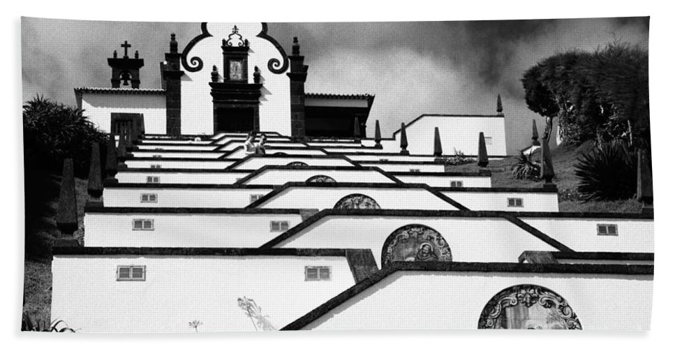 Architecture Hand Towel featuring the photograph Chapel In Azores by Gaspar Avila