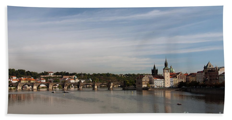 Prague Hand Towel featuring the photograph Charles Bridge by Ivy Ho