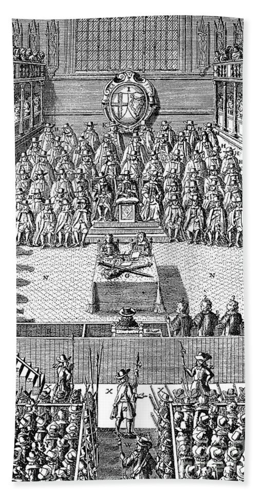 1649 Bath Sheet featuring the photograph Charles I (1600-1649) by Granger