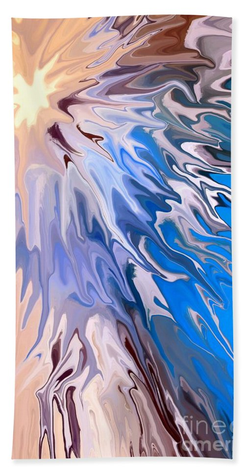 Abstract Bath Sheet featuring the digital art Chasm by Chris Butler