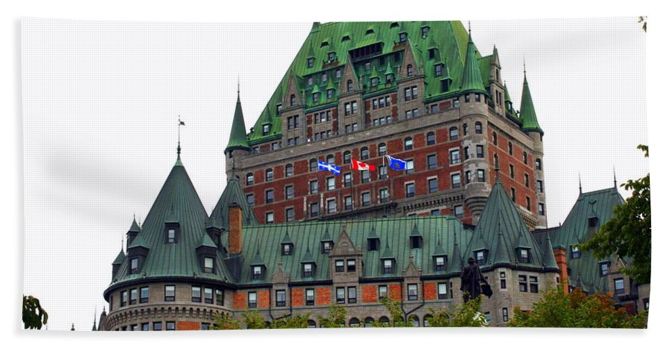 Chateau Frontenac Bath Sheet featuring the photograph Chateau Frontenac by Laurel Talabere