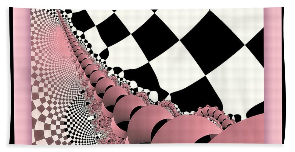 Fractal Bath Sheet featuring the photograph Checkers The Mouse Mechanical Tail by Mother Nature