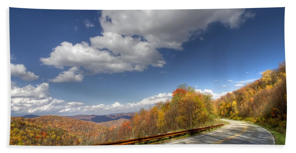 American Bath Sheet featuring the photograph Cherohala Skyway by Debra and Dave Vanderlaan