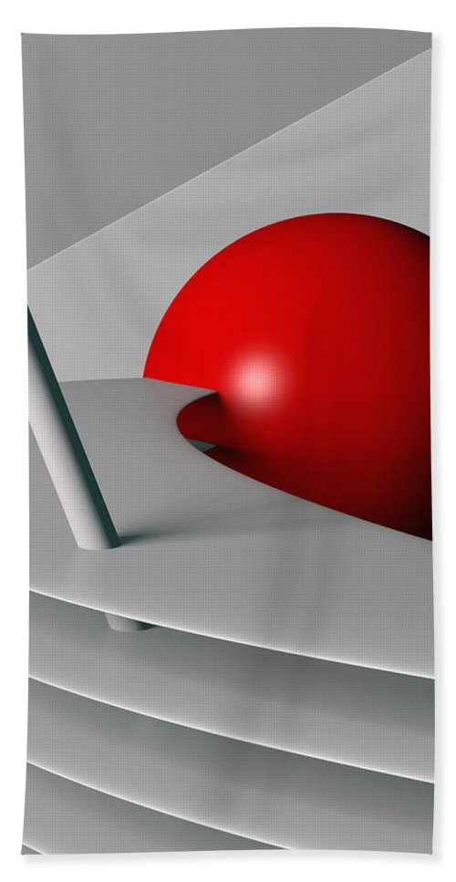 Cherry Float Hand Towel featuring the digital art Cherry Float by Richard Rizzo
