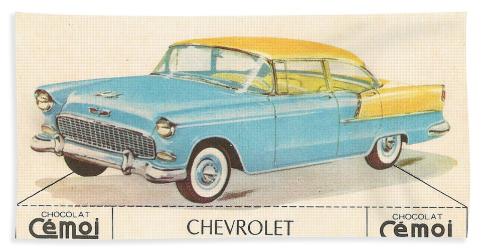 Chevrolet Hand Towel featuring the digital art Chevrolet by Georgia Fowler