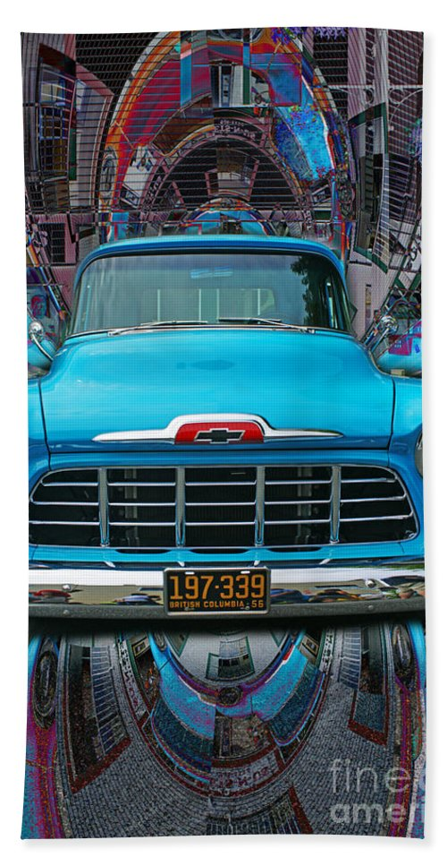 Old Cars Bath Sheet featuring the photograph Chevrolet Pick Up Abstract by Randy Harris