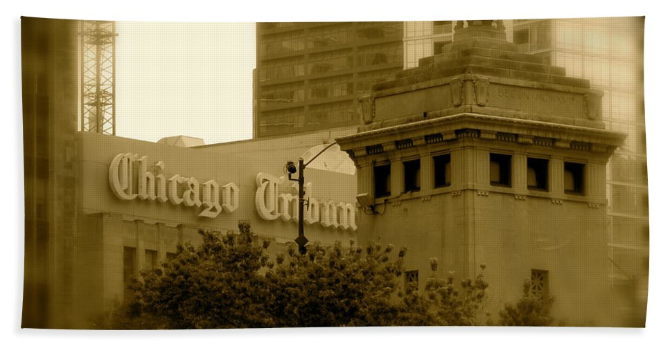 Chicago Hand Towel featuring the photograph Chicago Impressions 7 by Marwan George Khoury