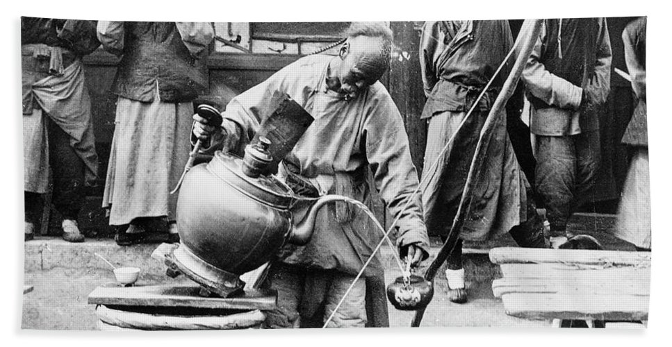 1906 Bath Sheet featuring the photograph China: Manchuria, C1906 by Granger
