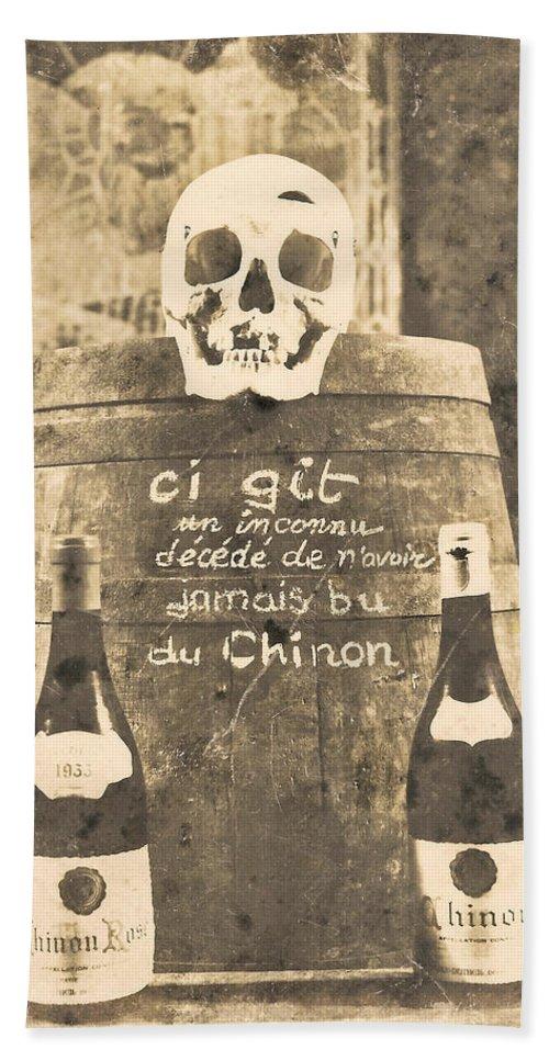 Chinon Hand Towel featuring the digital art Chinon Wine by Georgia Fowler