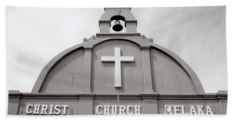 Asia Bath Sheet featuring the photograph Christ Church In Melaka In Malaysia by Shaun Higson