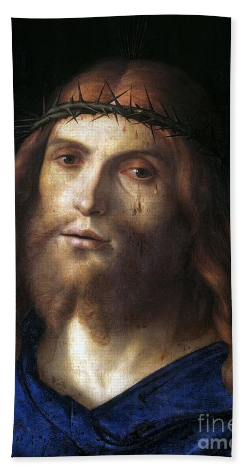 1510 Hand Towel featuring the photograph Christ Crowned With Thorns by Granger