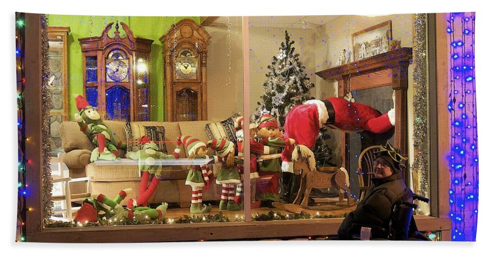 Christmas Bath Sheet featuring the photograph Christmas In Rochester by Michael Peychich
