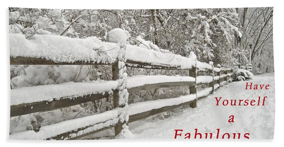 Christmas Hand Towel featuring the photograph Christmas Path by Michael Peychich
