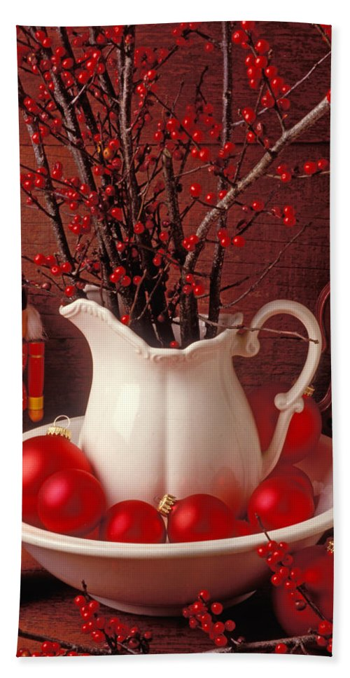 Christmas Hand Towel featuring the photograph Christmas Still Life by Garry Gay