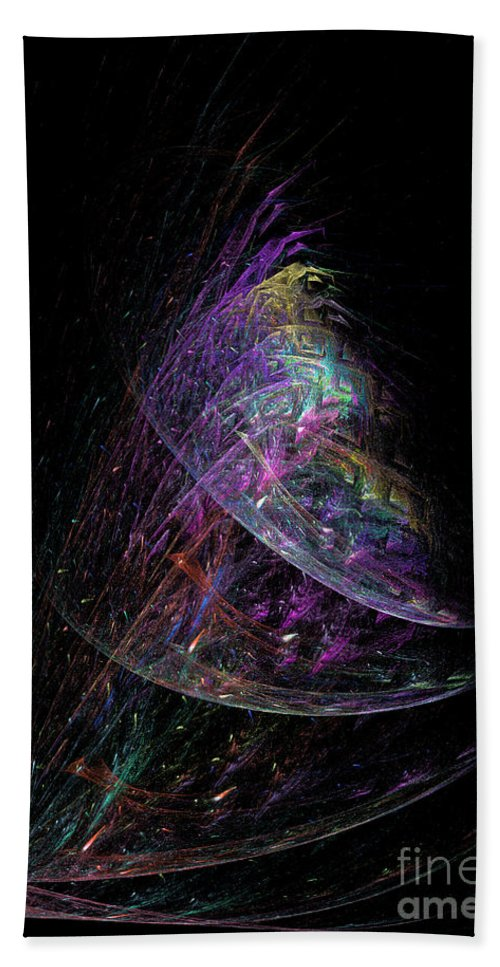Abstract Hand Towel featuring the digital art Christmas Tree 29e by Russell Kightley