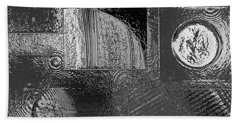 Space Hand Towel featuring the photograph Chrome Atmosphere by Gwyn Newcombe