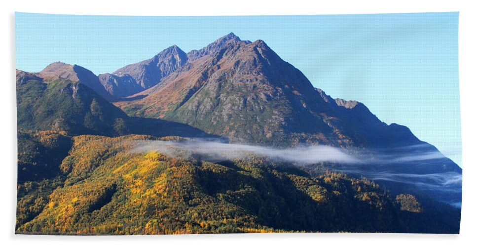 Doug Lloyd Hand Towel featuring the photograph Chugach Mountains by Doug Lloyd