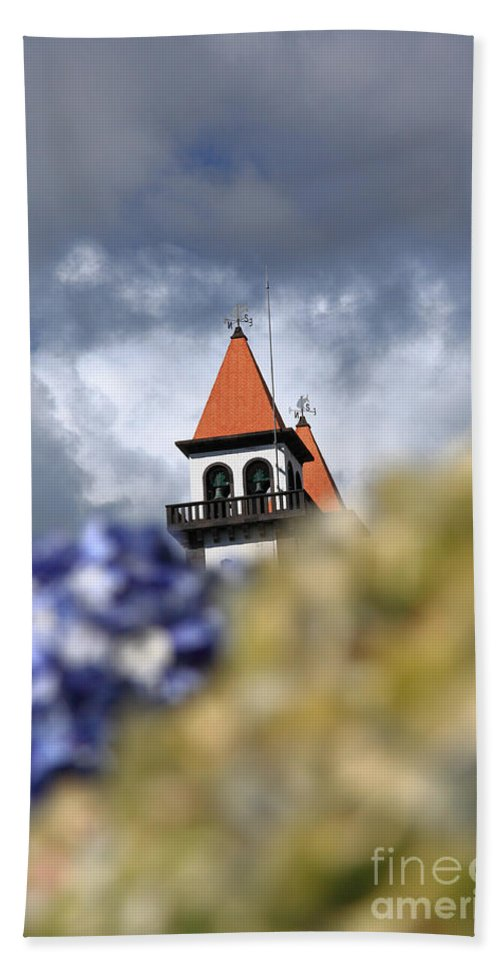 Portugal Hand Towel featuring the photograph Church At Furnas by Gaspar Avila