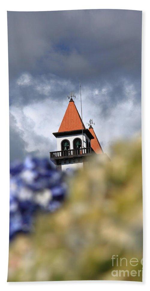 Portugal Bath Sheet featuring the photograph Church At Furnas by Gaspar Avila