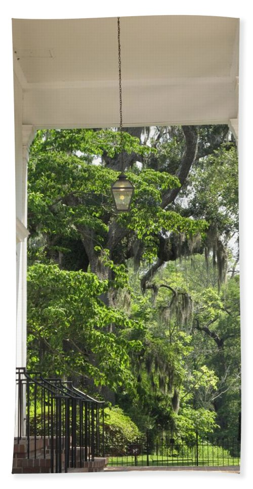 Church Hand Towel featuring the photograph Church Entrance by Michele Nelson