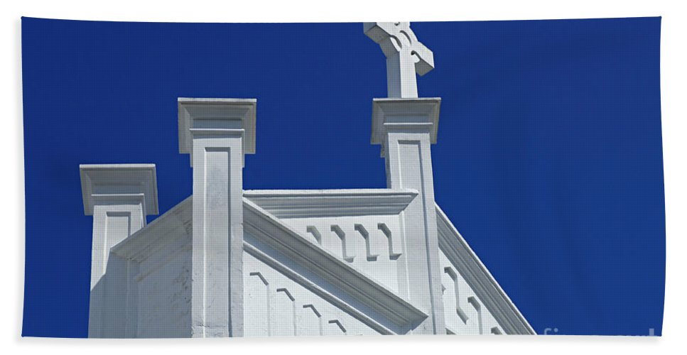 Church Hand Towel featuring the photograph Church Key West Florida by Bob Christopher