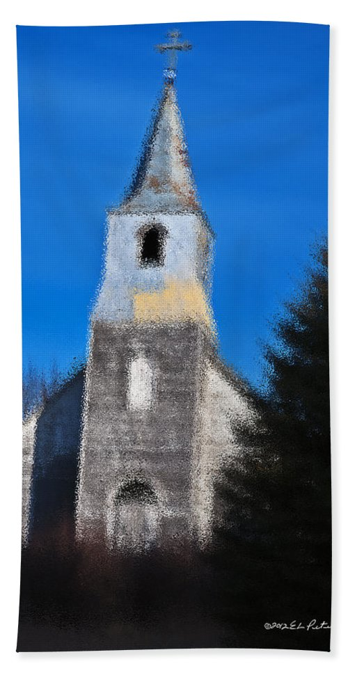 Church Hand Towel featuring the photograph Church Of Days Gone By by Edward Peterson