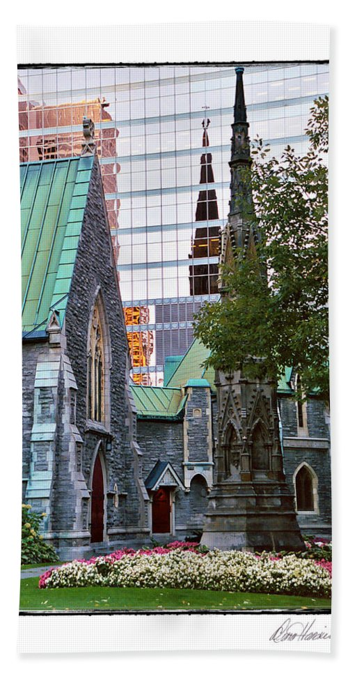 Church Bath Sheet featuring the photograph Church Reflections by Diana Haronis