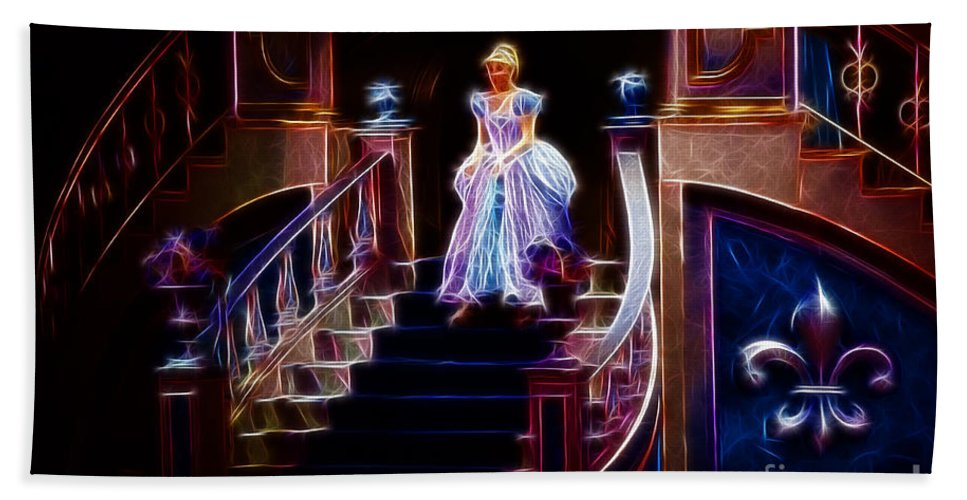 Cinderella Bath Sheet featuring the photograph Cinderella Enters The Ball by Darleen Stry