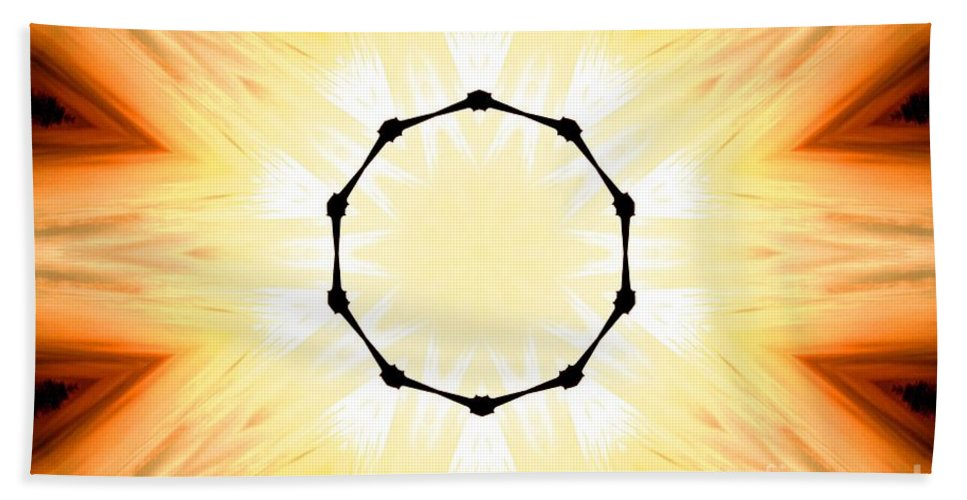 Digital Art Bath Sheet featuring the digital art Circle Of Light by Tommy Anderson