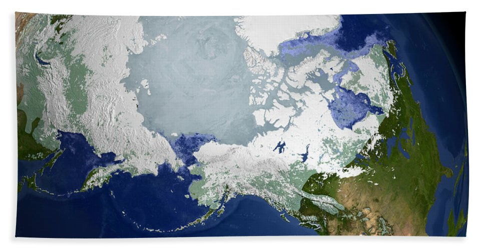 Arctic Bath Sheet featuring the photograph Circum-arctic Permafrost by Stocktrek Images
