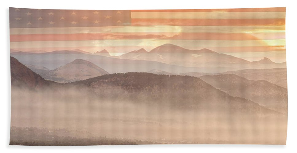 Usa Hand Towel featuring the photograph City Of Boulder Colorado Usa Wildfire Season by James BO Insogna