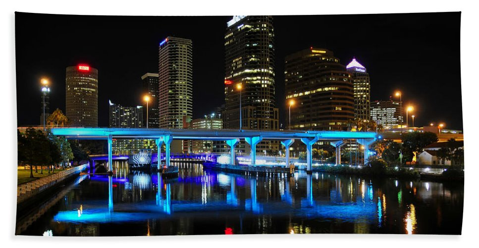 Fine Art Photography Bath Sheet featuring the photograph City Of Color by David Lee Thompson