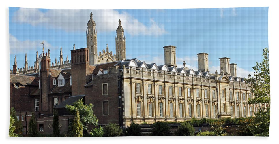Cambridge Hand Towel featuring the photograph Clare College Cambridge by Tony Murtagh