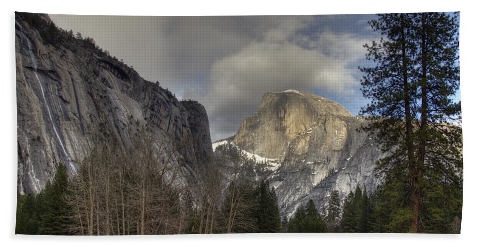 Clearing At Half Dome Bath Sheet featuring the photograph Clearing At Half Dome by Wes and Dotty Weber