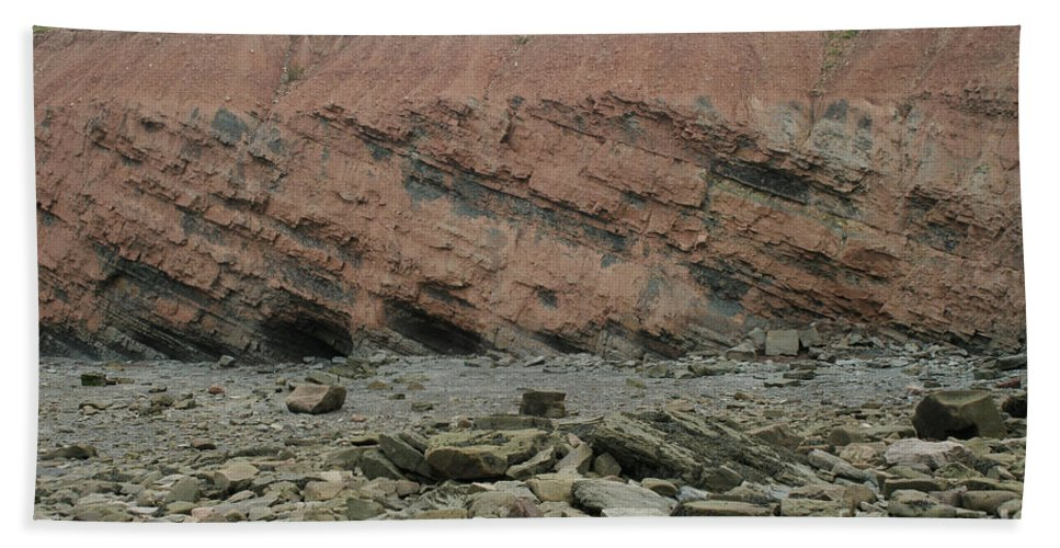 Fossil Hand Towel featuring the photograph Cliffs At Joggins Nova Scotia by Ted Kinsman