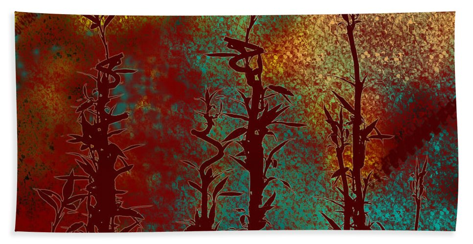 Abstracts Hand Towel featuring the digital art Climbing Unknown Horizons by Lj Lambert