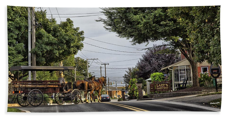 Amish Hand Towel featuring the photograph Closed On Sundays 2 - Amish Country by Madeline Ellis