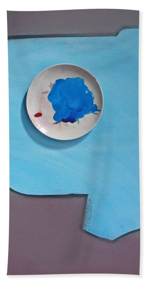 Clouds Hand Towel featuring the painting Cloud by Charles Stuart