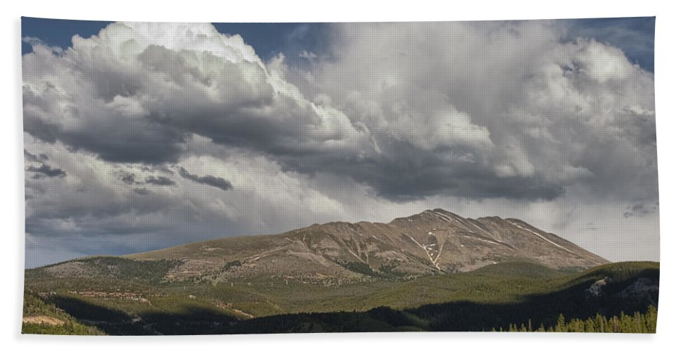 Art Bath Sheet featuring the photograph Cloud Over Breckenridge Colorado by Randall Nyhof